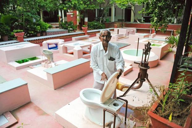 In Ahmedabad, the Harijan Sevak Sangh introduced toilets designed as per the World Bank guidelines on 3 October